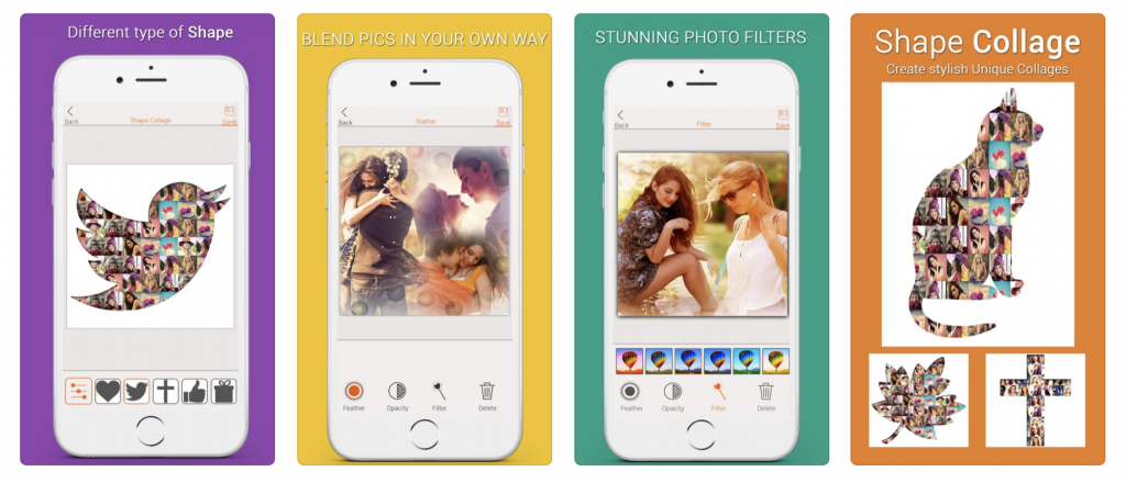 Photo Blend & Shape photo collage apps