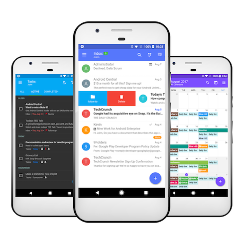 Photo of Best email apps Nine's inbox, task, and calendar views on three different phones