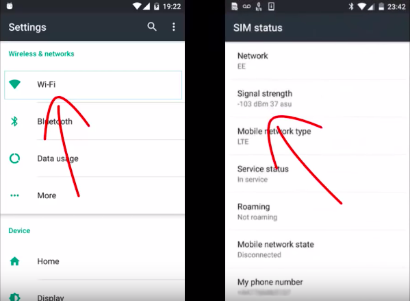 find signal strength (decibels) on your Android