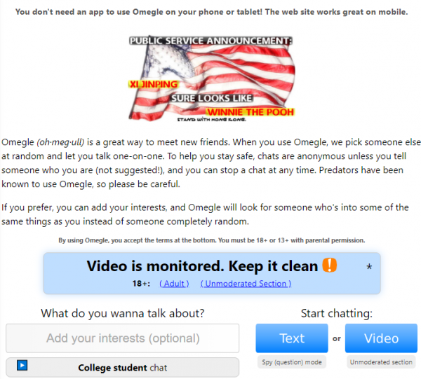 Omegle best search words
