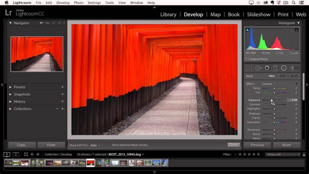 Adobe Lightroom Radial Filter