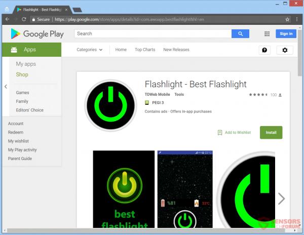 Android Flashlight_Google Play Store