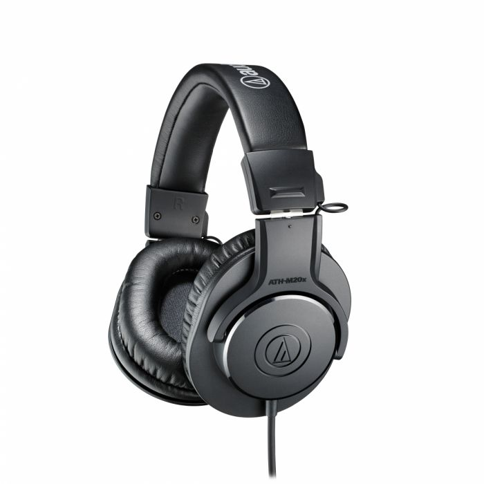 http://Black%20colored%20Audio%20Technica%20ATH%20M20X%20Over-Ear%20headphone.