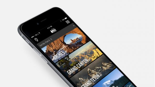REI - National Parks hiking app official dashboard