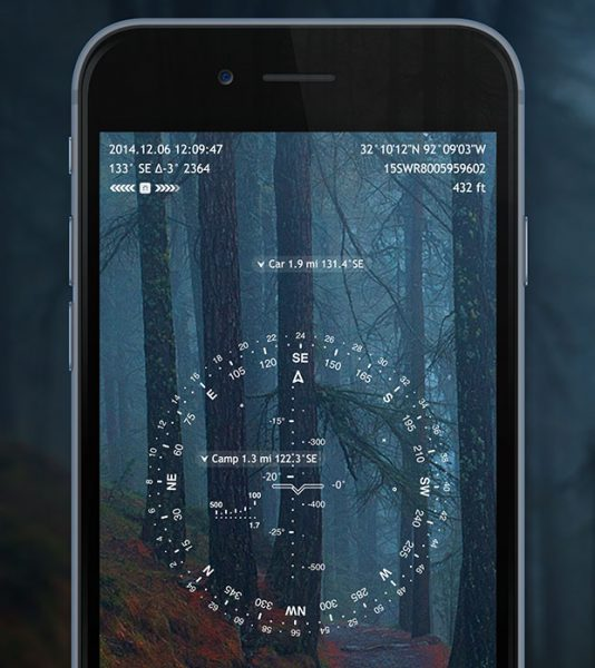 Screenshot of one of the SpyGlass feature one of the best hiking apps