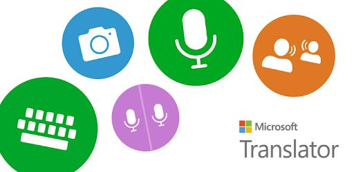 Microsoft Translator's banner image on Google play