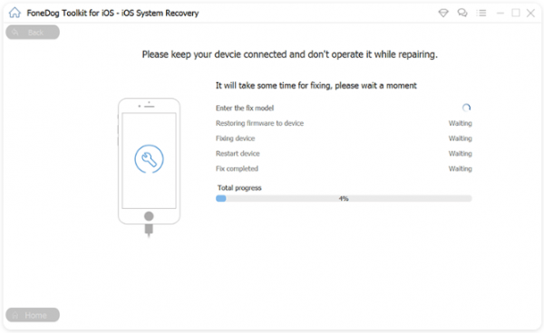 keep your device connected and don't operate it while repairing mobile data issues