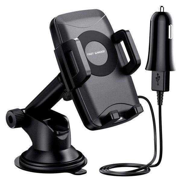 Fast Wireless Car Charger Mount, ELLESYE Car Phone Holder