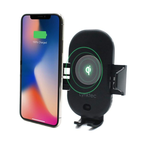 Bolt Car Mount and Qi Fast Wireless Charger with Auto Sense Locking