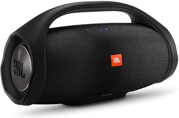 The JBL Boombox is water resistant and has good sound quality