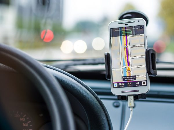 Car phone holders are useful for hands-free navigation.