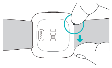 A handy diagram of the Versa from Fitbit
