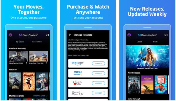 Movie Anywhere movie apps