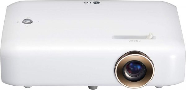 LG Cinebeam projector in white