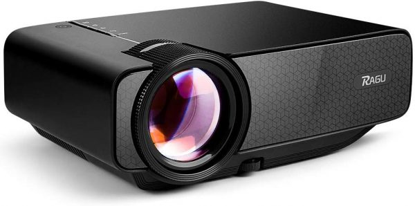 The RAGU Z400 Mini Projector with low-noise fans