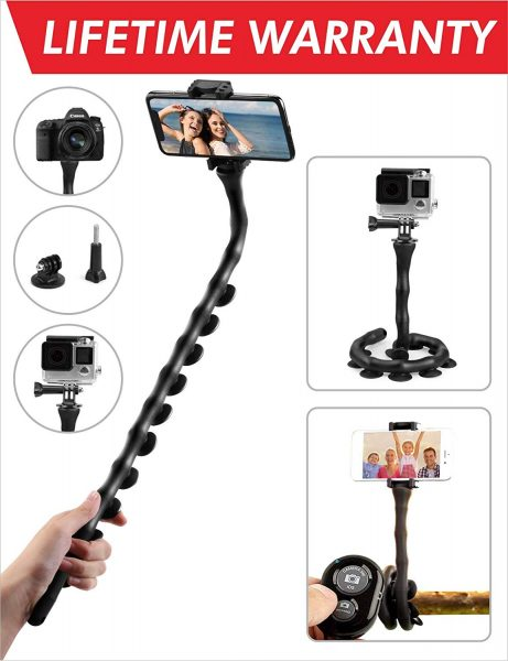 This selfie stick can bend and help you get selfies even in weird angles