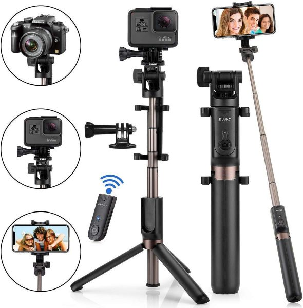 This selfie stick has multiple uses and comes with a wireless remote