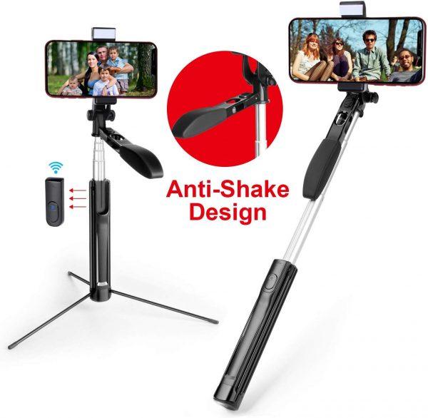 The Mocreo selfie stick has ana anti-shake design