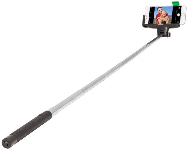 This is a simple selfie stick for people on a budget
