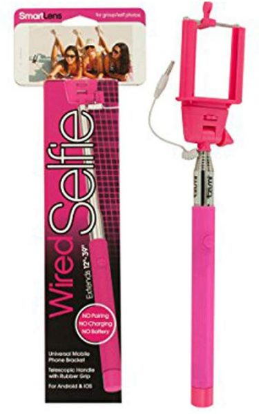 Product showcased in pink with the packaging being shown