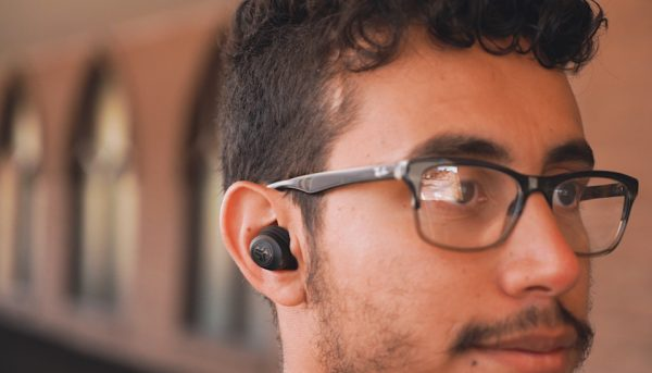 earbuds in ear