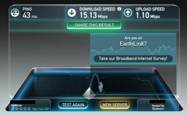 low upload speed