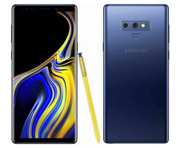 Samsung Galaxy Note 9 phone with best battery life