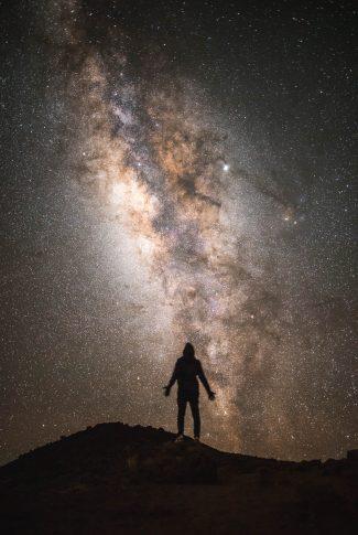 Download Universe Wallpaper: Man Under the Stars | CellularNews