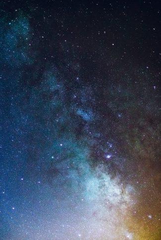 05 a universe in neon blue wallpaper