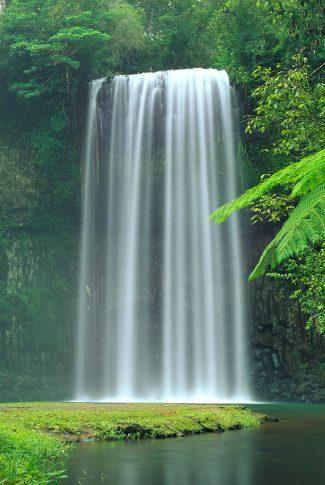 Download Green Waterfall Wallpaper Cellularnews