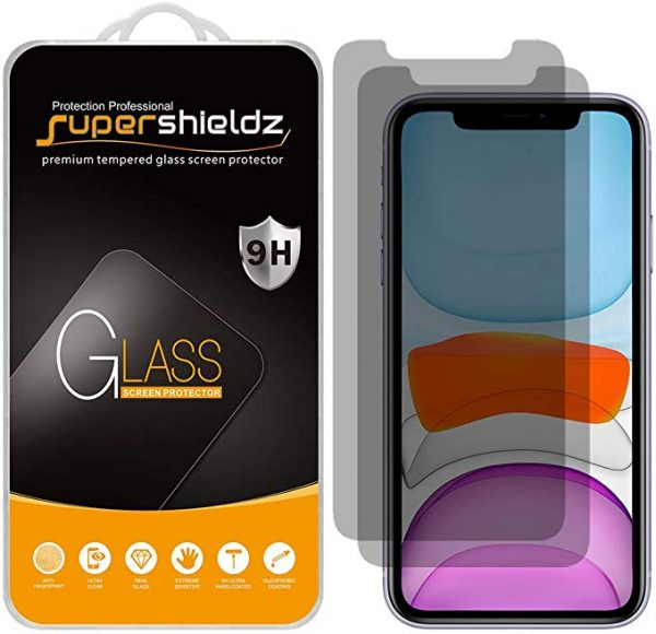 Anti-spy tempered glass screen protector for iPhone