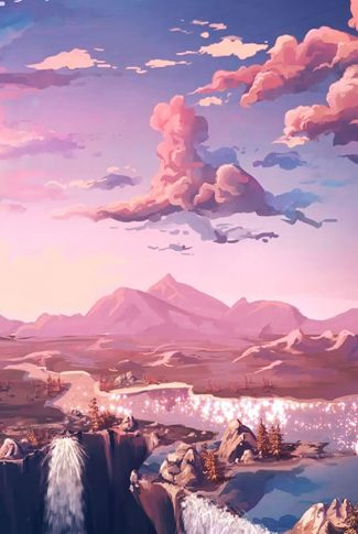Cool and artsy painting of a beautiful sky scenery.