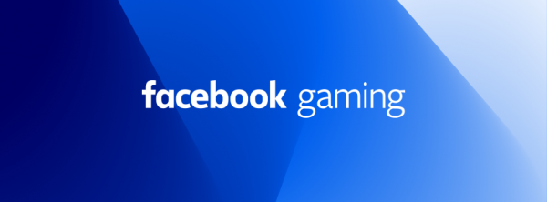 Facebook Gaming in a blue backdrop