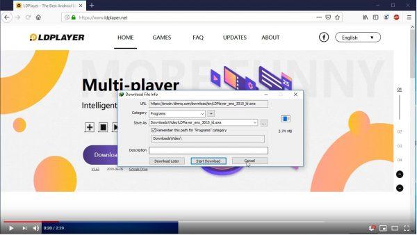 LDPlayer download bar