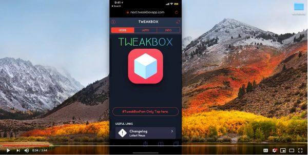 Tweakbox app and logo in Safar