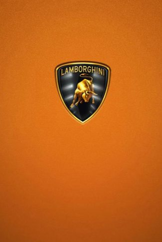 Orange Lamborghini Logo Wallpaper
