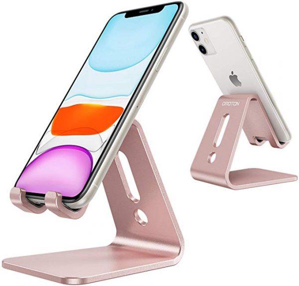 Omoton Aluminium Handphone Stand in Rose Gold