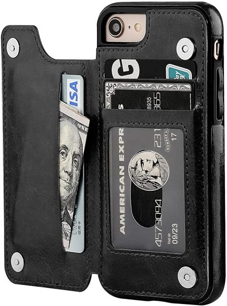 Phone wallet case for iPhone