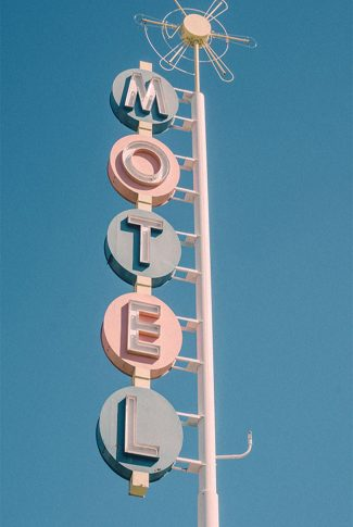 Cool and cute, colorful vintage motel signage in the 50's.