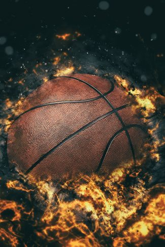 Download Basketball In Flames Wallpaper Cellularnews