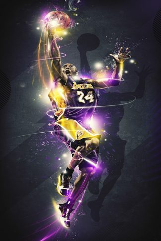 Nice and cool, graphic of Kobe Bryant's lay-up shot.
