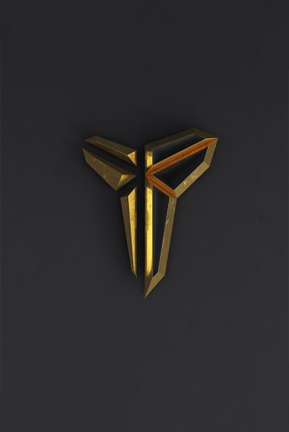 Nice and simple, Kobe Bryant logo in gold and gray.