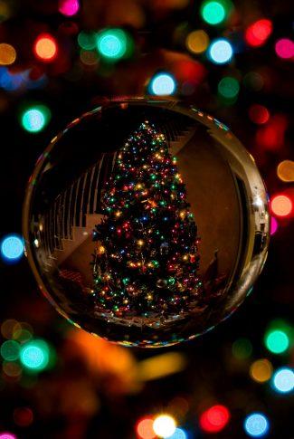 christmas tree reflection ornament