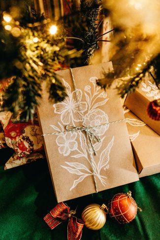 christmas tree with christmas presents