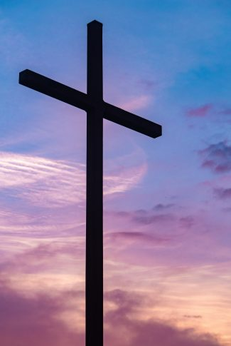 Download Cross In Pink Sky Wallpaper Cellularnews