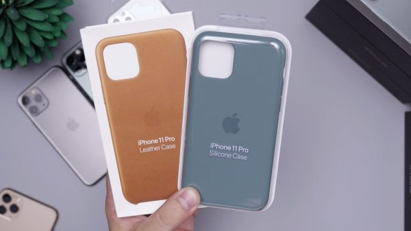iPhone leather and silicone cases