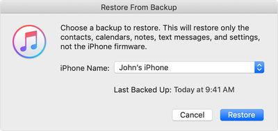 iCloud Backup to Downgrade iOS