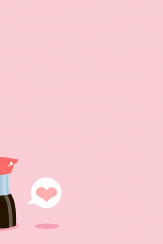 A japanese kawaii food in a pink background. What a yummy image.