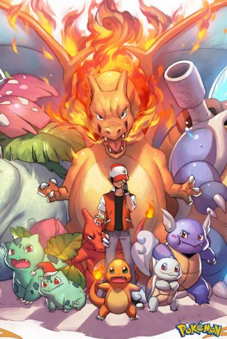 Cool and smooth, nice anime art for Pokemon fire red and leaf green.