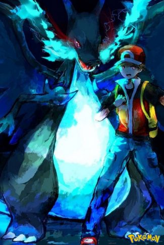 Smooth and textured, nice anime art of a blue legendary Pokemon!